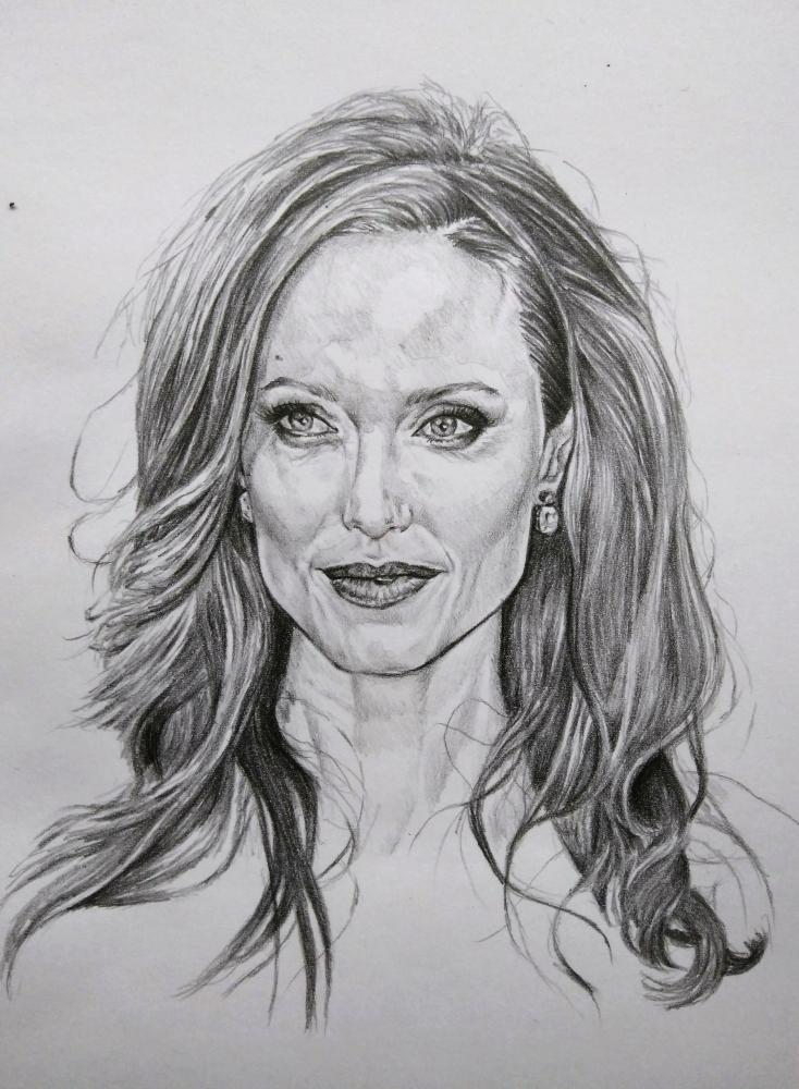 Angelina Jolie by Esus